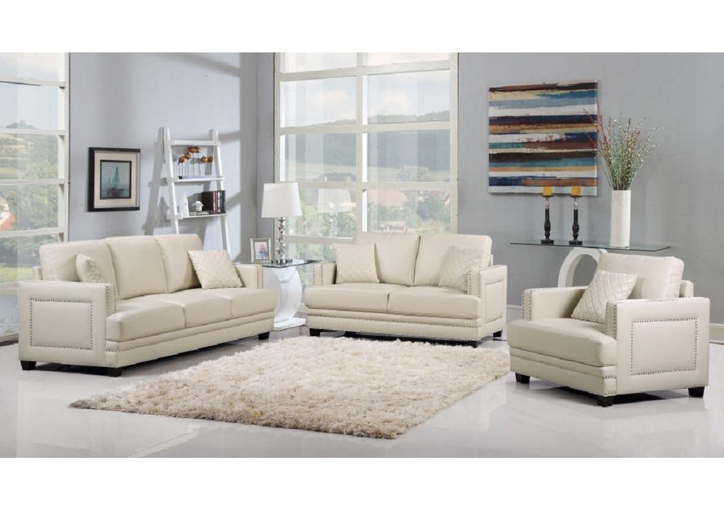Pleasing Harlem Furniture Ferrara Beige Leather Sofa Loveseat Bralicious Painted Fabric Chair Ideas Braliciousco