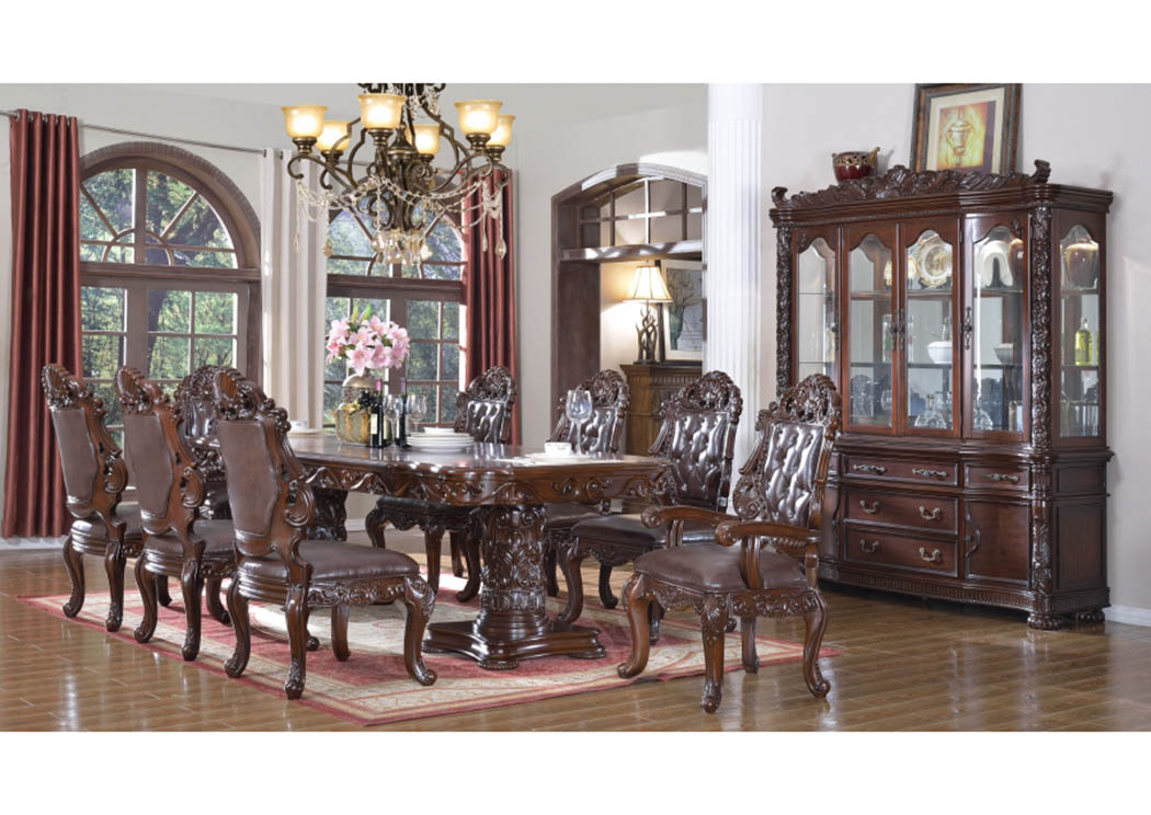 Barcelona Dining Table W 6 Side Chairs 2 Arm ChairsMeridian Furniture