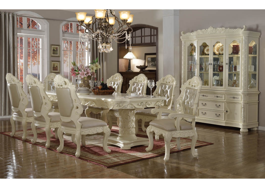 Madrid Dining Table W 6 Side Chairs 2 Arm ChairsMeridian Furniture