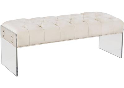 Image for Jane Cream Velvet Bench