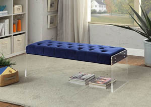 Jane Navy Velvet Bench