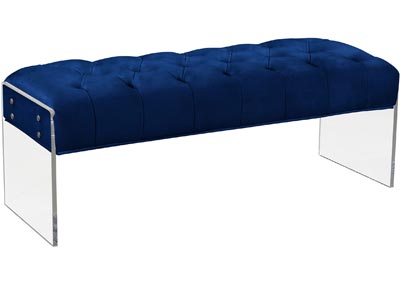 Image for Jane Navy Velvet Bench