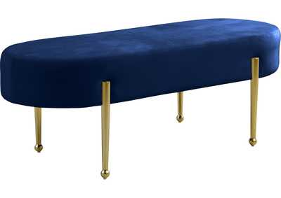 Image for Gia Navy Velvet Bench