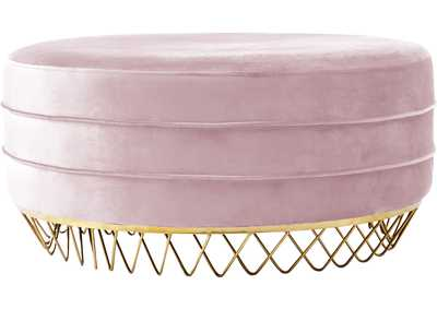 Image for Revolve Pink Velvet Ottoman/Coffee Table