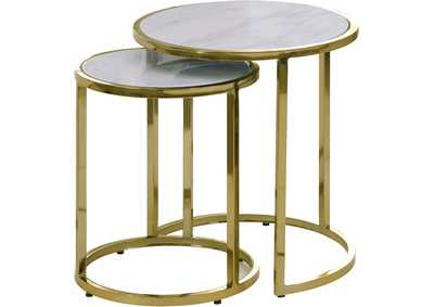 Massimo Gold End Table