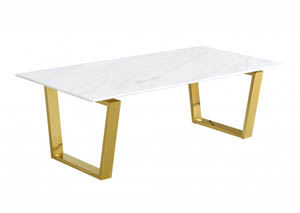 Cameron White/Gold Coffee table