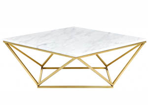 Mason White/Gold Coffee table
