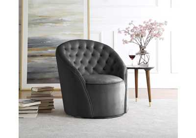 Alessio Grey Velvet Accent Chair