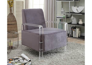 Liam Grey Velvet Accent Chair