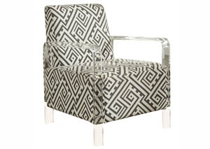 Lavo Black & White Accent Chair