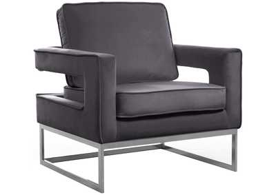 Noah Grey Velvet Accent Chair