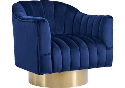 Image for Farrah Navy Velvet Accent Chair