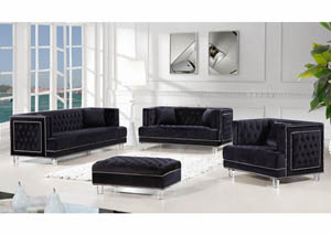 Lucas Black Velvet Sofa & Loveseat