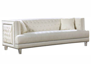Lucas Cream Velvet Sofa