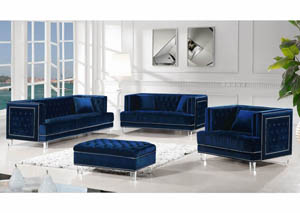 Lucas Navy Velvet Sofa & Loveseat