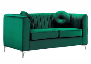 Isabelle Green Velvet Loveseat