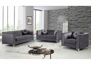 Isabelle Grey Velvet Sofa & Loveseat