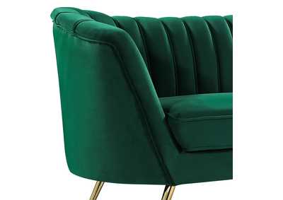 Margo Green Velvet Sofa and Loveseat