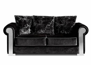 Electra Black Velvet Loveseat