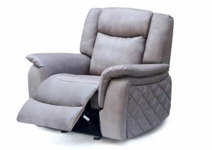 Carly Grey Leather Glider Recliner