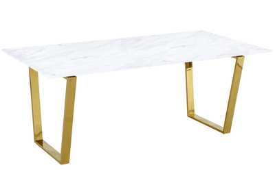 Cameron Gold Dining Table