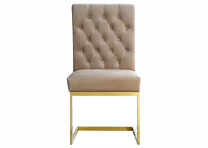 Cameron Beige Velvet Dining Chair