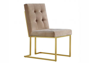 Pierre Beige Velvet Dining Chair
