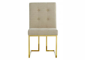 Victoria Beige Linen Dining Chair