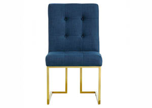 Victoria Navy Linen Dining Chair