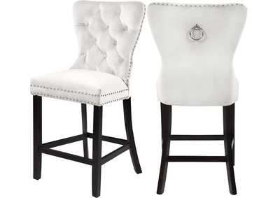Image for Nikki Cream Velvet Stool