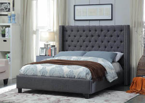 Ashton Grey Linen Queen Bed
