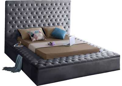 Image for Bliss Grey Velvet Queen Bed (3 Boxes)