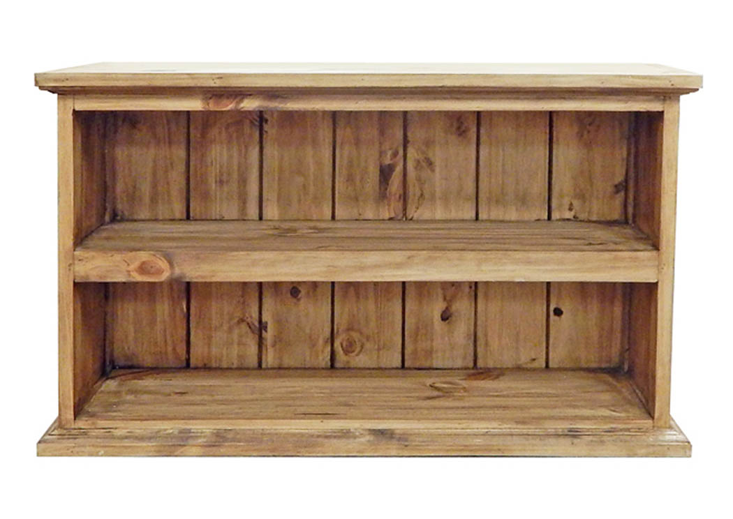 Small Bookcase w/2 Shelves,Million Dollar Rustic