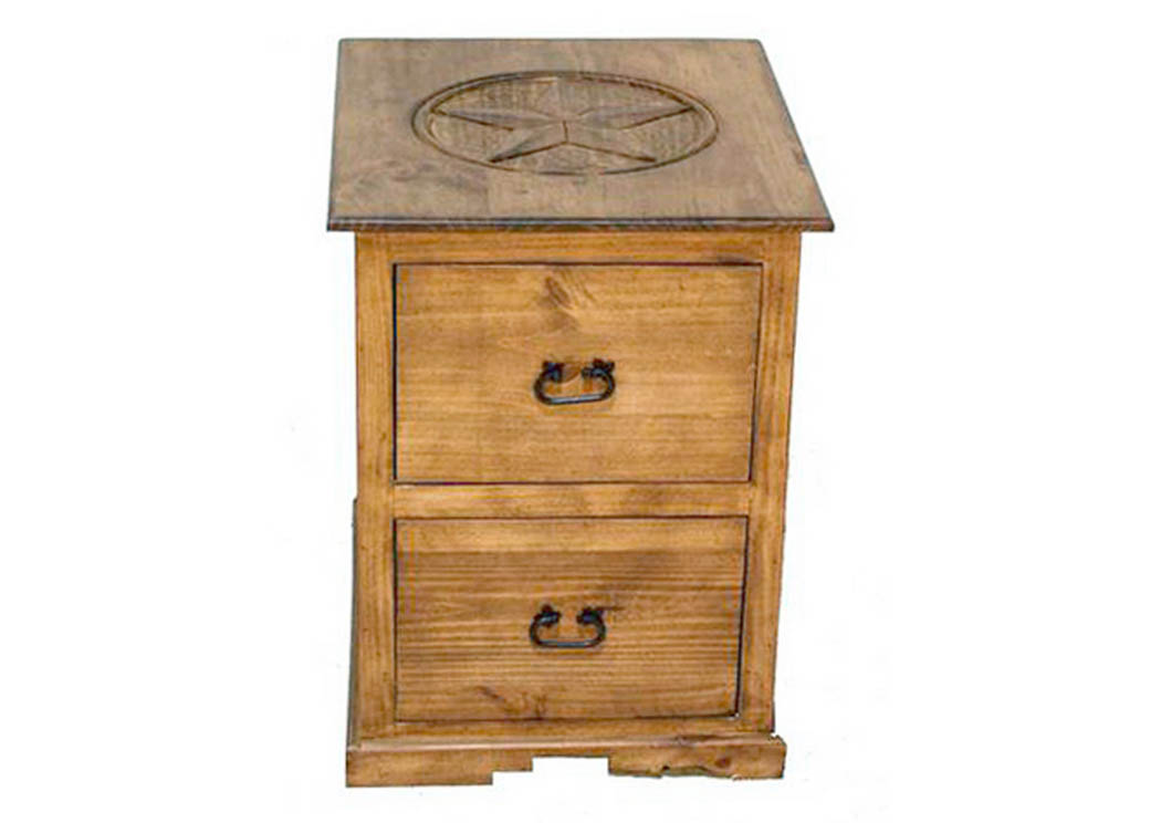 2 Drawer File Cabinet w/Star,Million Dollar Rustic
