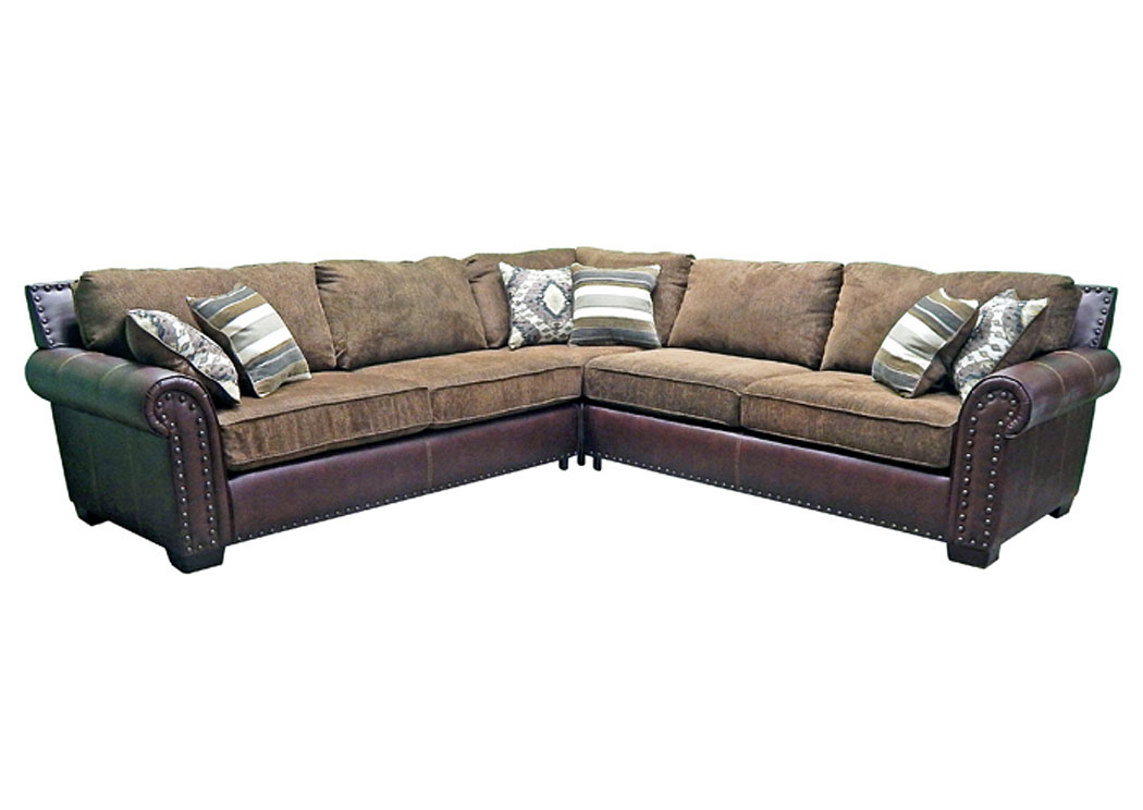 3 Piece Sectional O-Saddle,Million Dollar Rustic