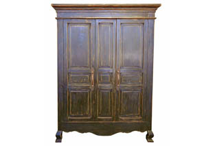 Stone Brown 2 Door Armoire