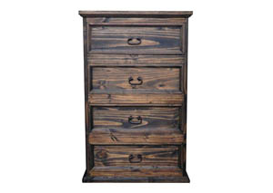 Medium Wax Budget 4 Drawer Chest