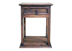 Medium Wax Budget Tall Nightstand