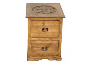2 Drawer File Cabinet w/Star