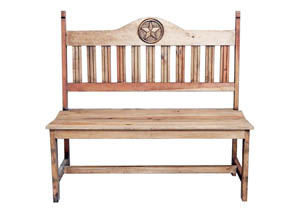 "Image for Rustic Pine 49"" Star Bench"