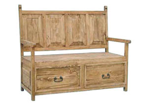 Image for 2 Drawer Bench w/Back