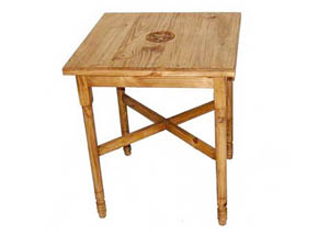 Square Leg Bar Table w/Star