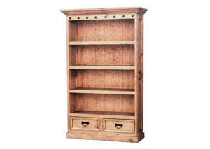 Bookcase T/M Primo w/4 Shelves & 2 Drawers