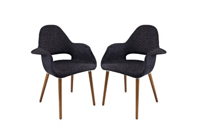 Image for Aegis Black Arm Dining Chair [Set of 2]
