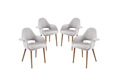 Image for Aegis Light Gray Arm Dining Chair [Set of 4]