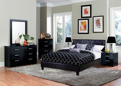 Renaissance Philadelphia Pa Black Upholstered Platform Queen Bed