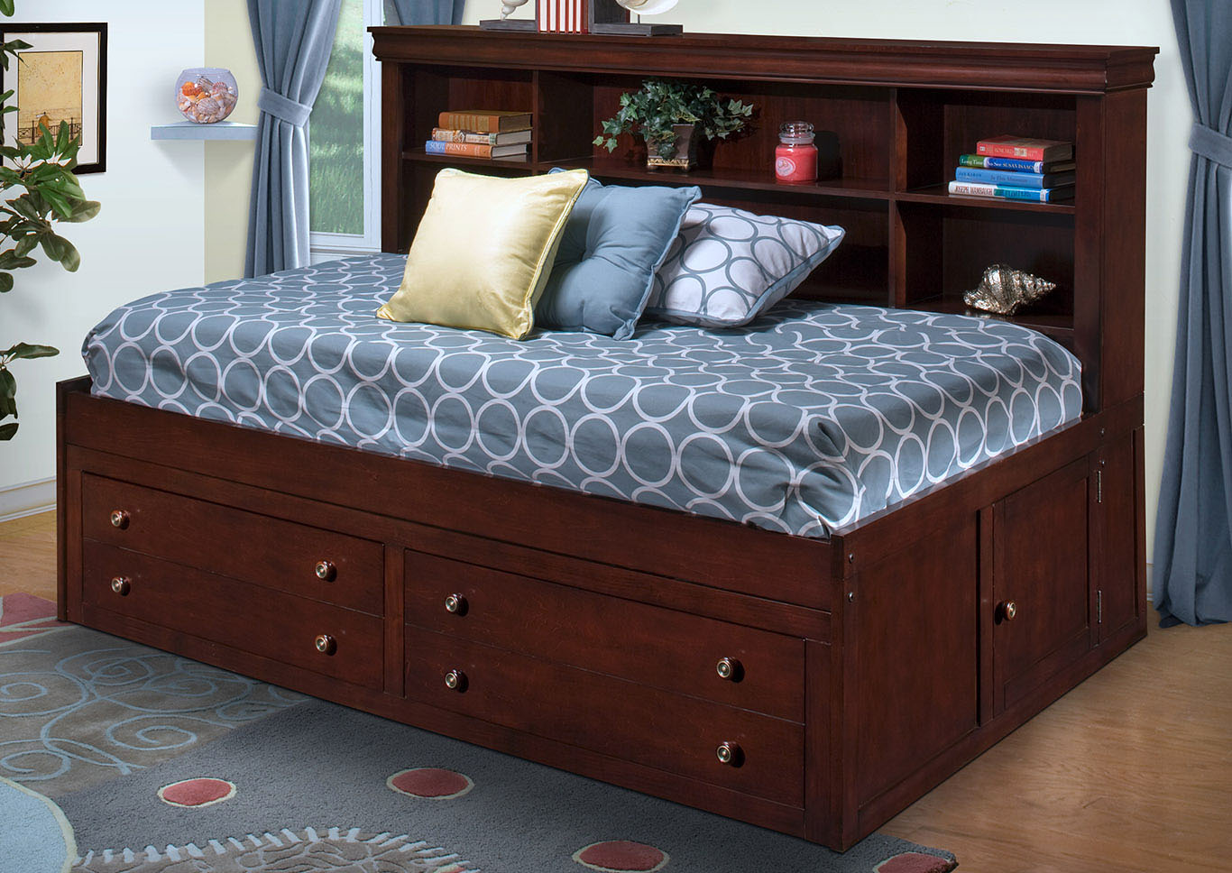 Versaille Bordeaux Full Lounge Bed,New Classic