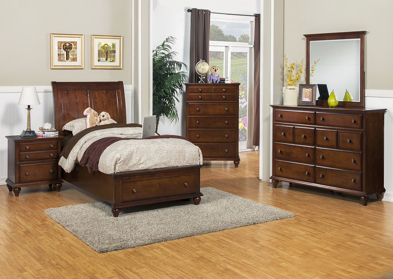 Spring Creek Tobacco Twin Storage Bed,New Classic