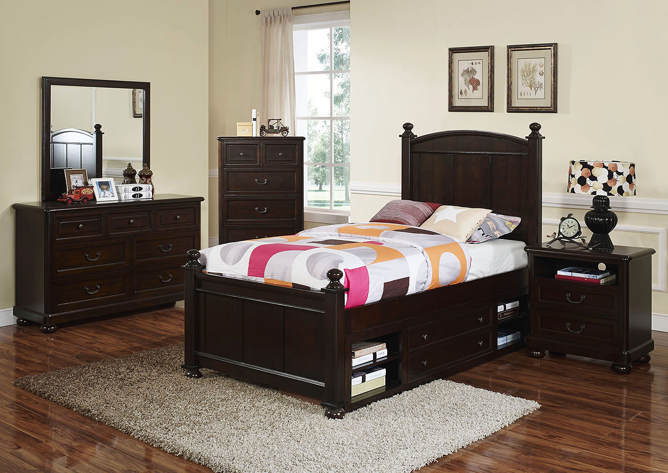 Excellent Kirk Imports Canyon Ridge Chestnut Full Panel Bed W Dresser Ncnpc Chair Design For Home Ncnpcorg
