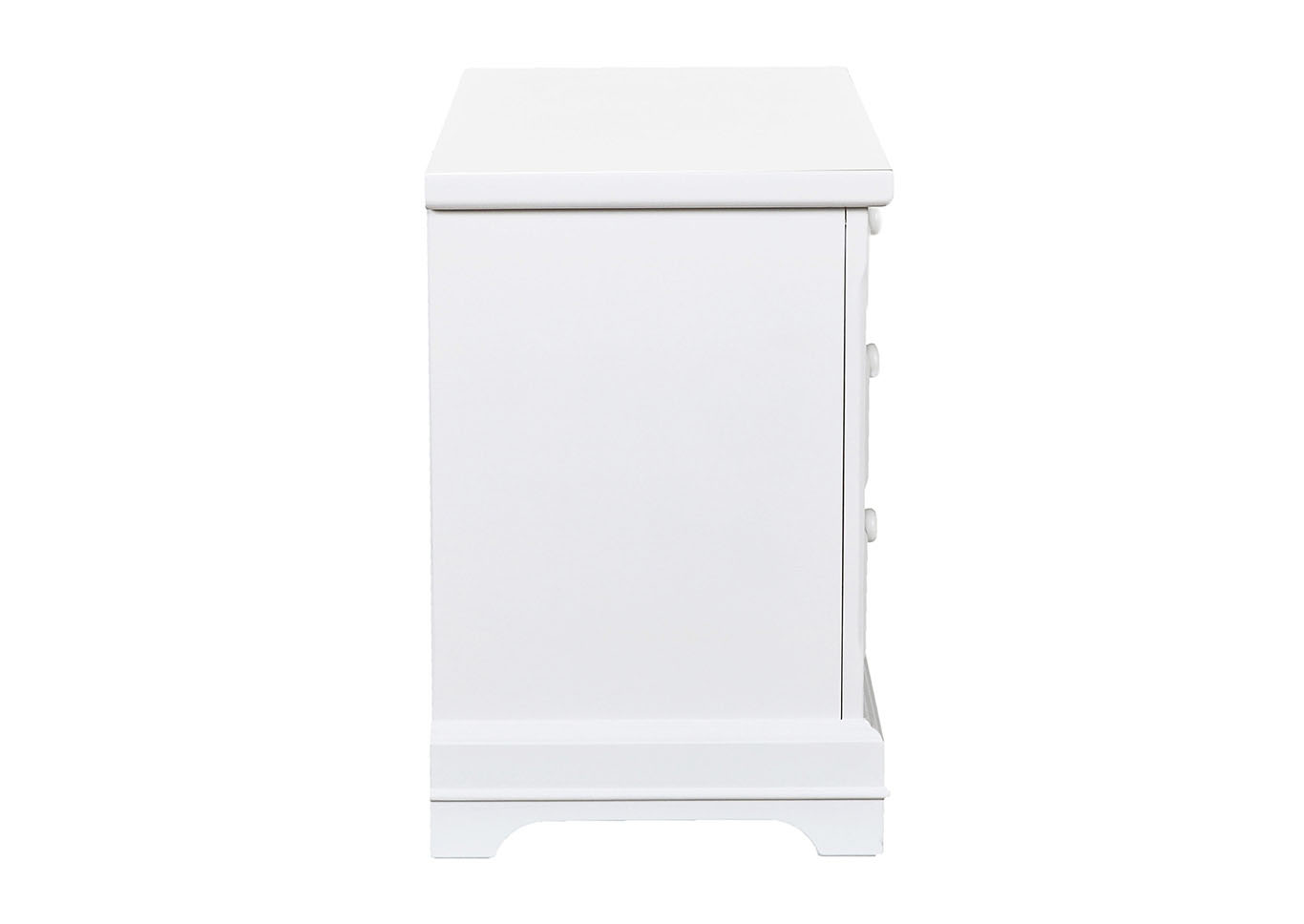 Bayfront White 3-Drawer Nightstand,New Classic